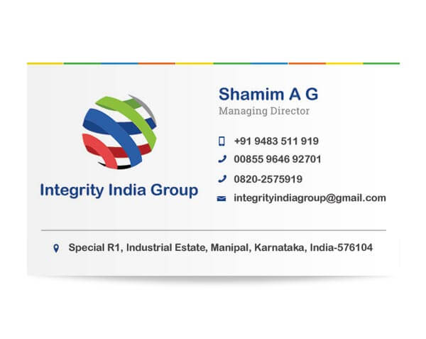 Integrity India Group - Business Card