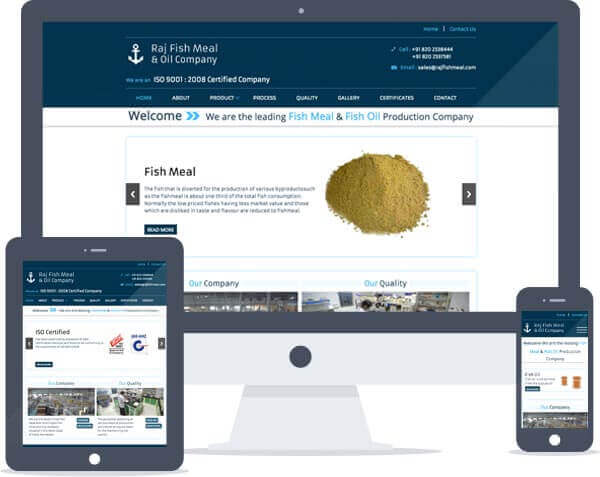 Raj Fish Meal - Responsive Website Design